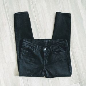 J BRAND Black Straight Cropped Jett Jeans 935